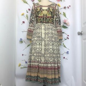 NWT Anthropologie Far fields midi dress